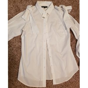 Banana Republic White Blouse w/ Wide Sleeves